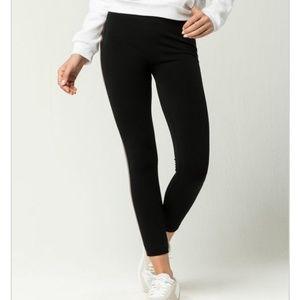White Fawn Pants Amp Jumpsuits Side Stripe Fleece Leggings